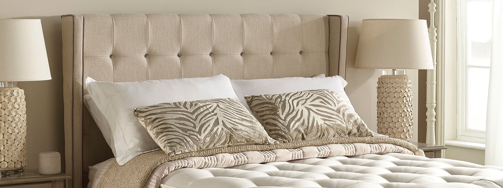 Headboards and bespoke beds available in a wide range of fabric and styles