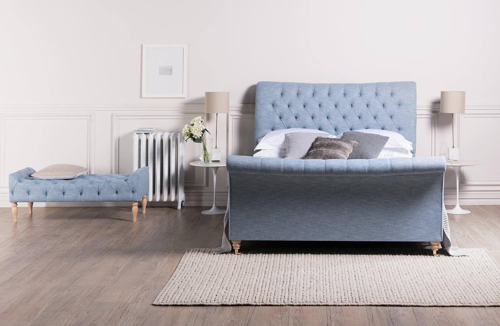 bedframe buttoned, modern frames, sleigh beds, huddersfield