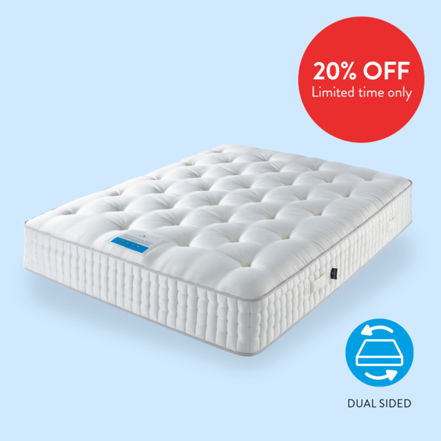 Dual Sided Luxury Eco packed Natural Mattress with 16750 20% Off at Sleep Matters