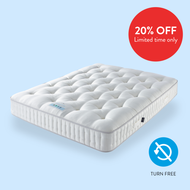 Velocity Sustainable Natural 750 Mattress Image, To show 20% Off at Sleep Matters